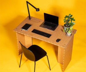 StayTheF***Home Cardboard Desk
