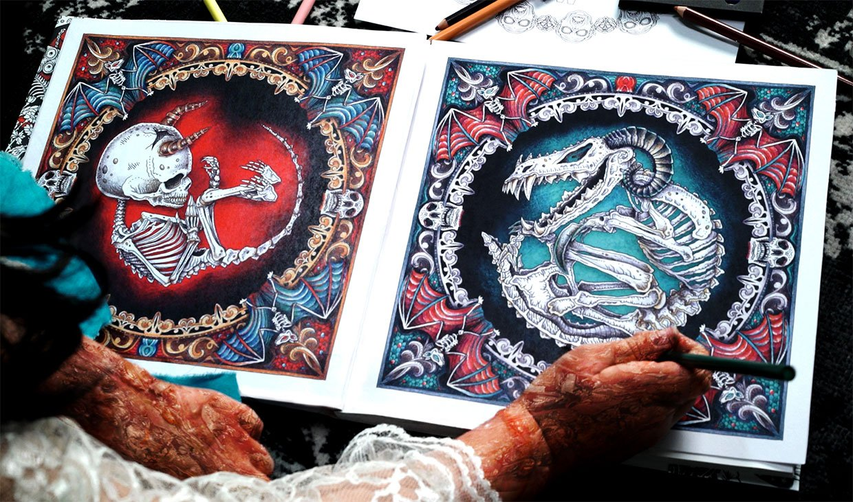 The Beauty of Horror Coloring Books