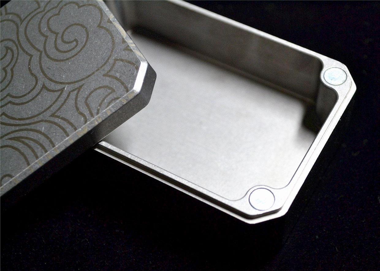 Titanium Match Box