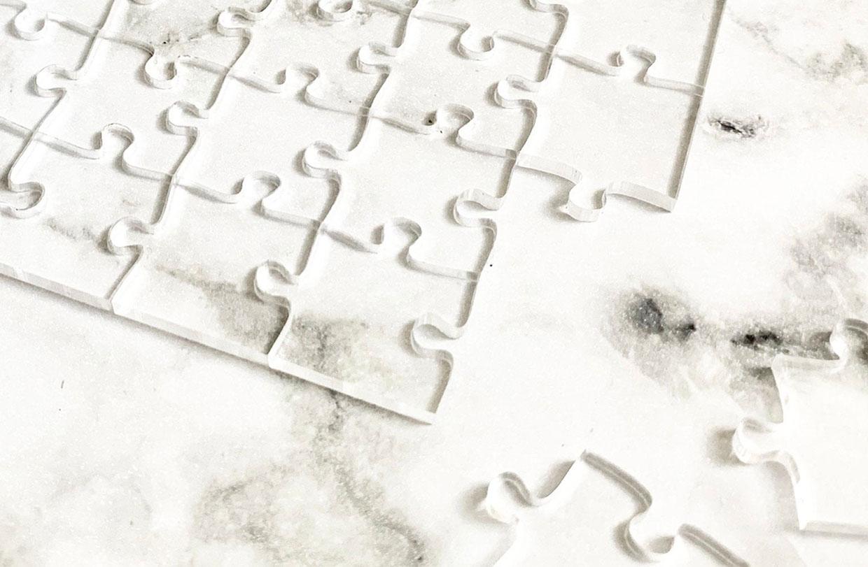 Transparent Jigsaw Puzzles