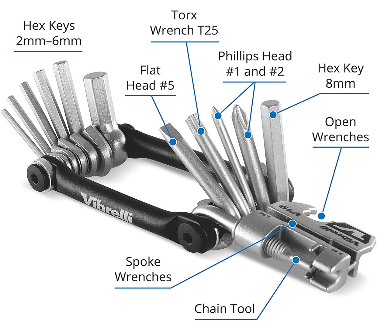 Vibrelli V19 Bike Multitool