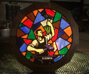 Waterjet Stained Glass Window