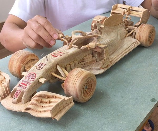 Carving an F1 Car