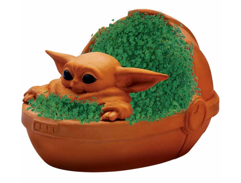 Baby Yoda Chia Pet