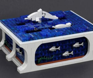 LEGO Kinetic Dolphins Sculpture
