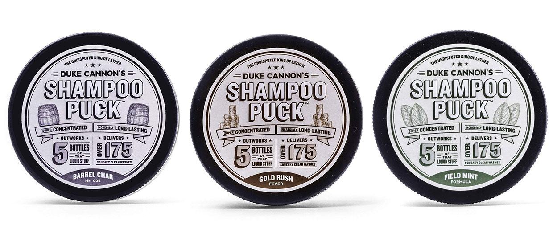Duke Cannon's Shampoo Pucks