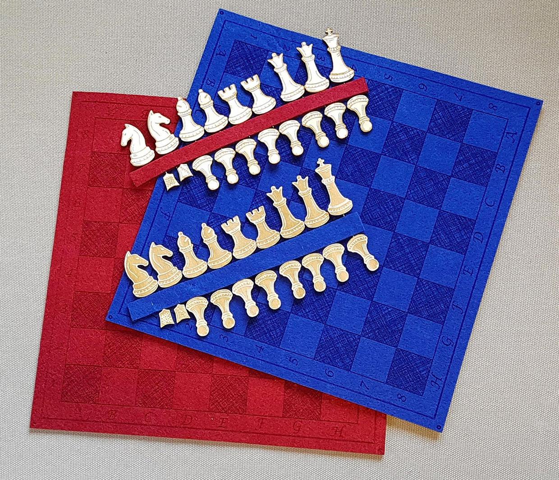 Felt + Pin Chess Set