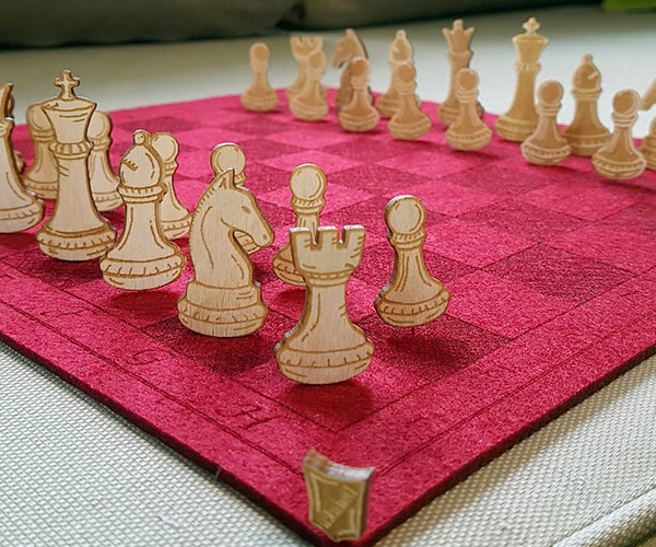 Felt + Pin Chess Set