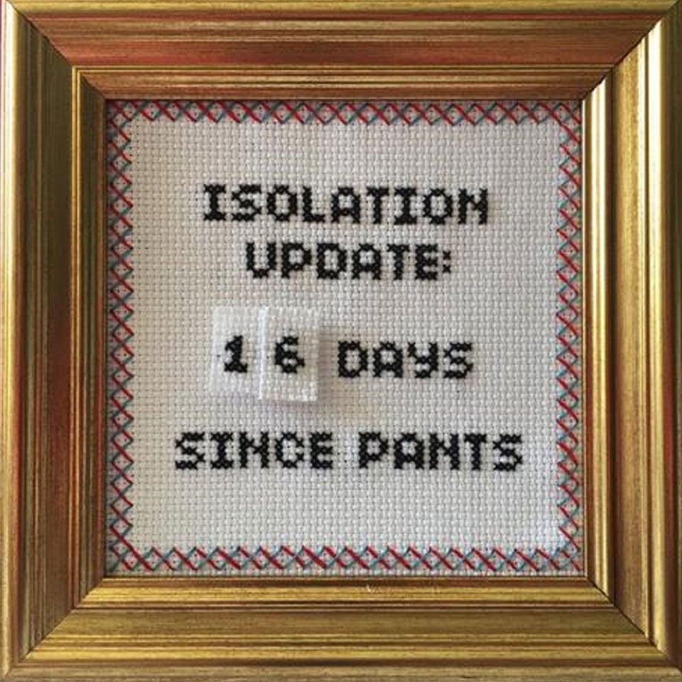 Isolation Update Cross Stitch Kit