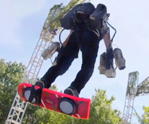 Jet Suit Hoverboarding