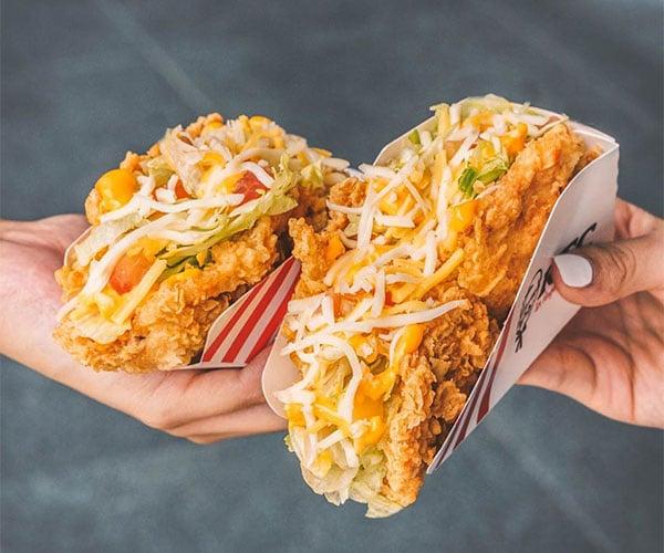 KFC Fried Chicken Tacos