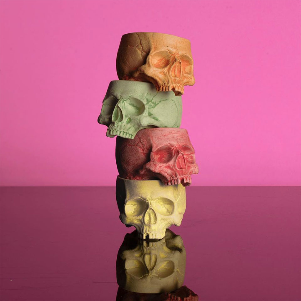 Memento Mori Skull Cups