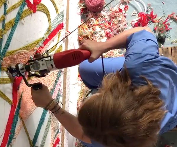Painting Rugs with Yarn