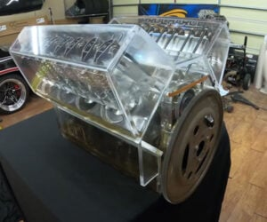 See-Through V8 Engine