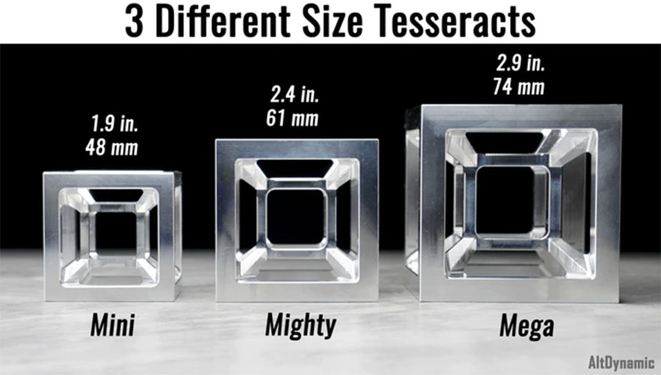 Machined Tesseract Cube