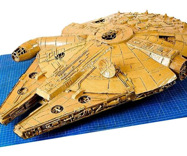 DIY Cardboard Millennium Falcon