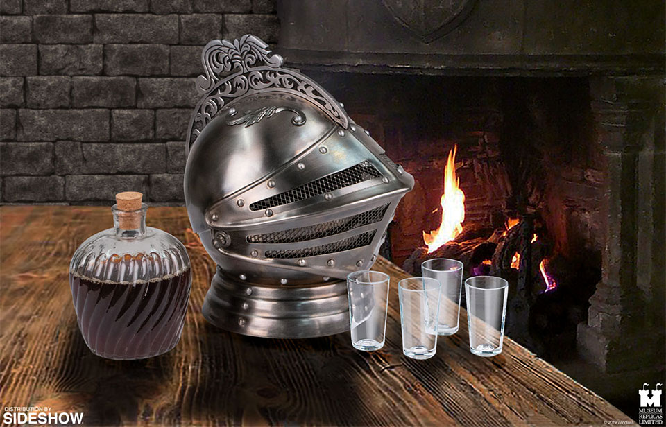 Medieval Knight's Helmet Decanter