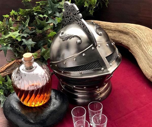 Medieval Knight's Helmet Decanter