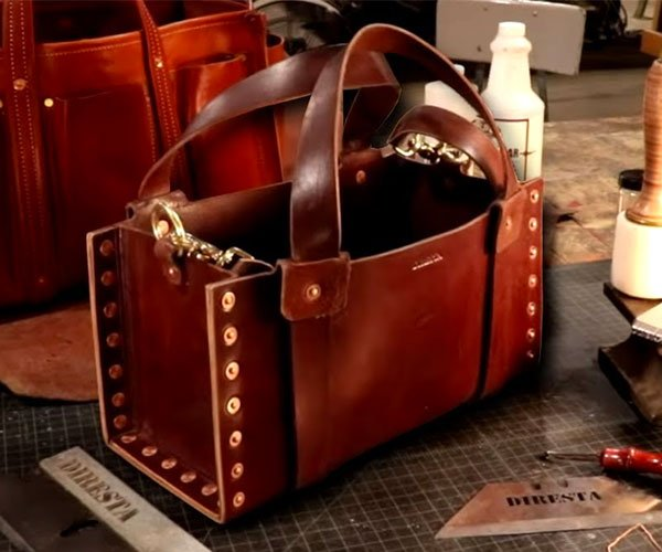 Making a Stitch-Free Leather Bag