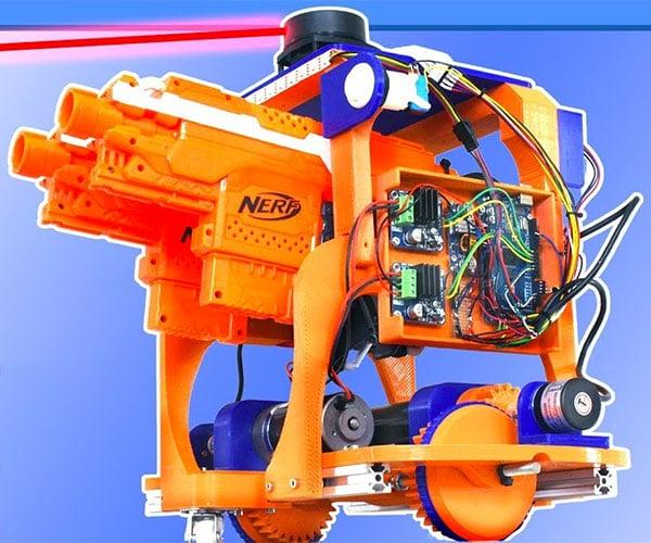 Autonomous LiDAR NERF Robot
