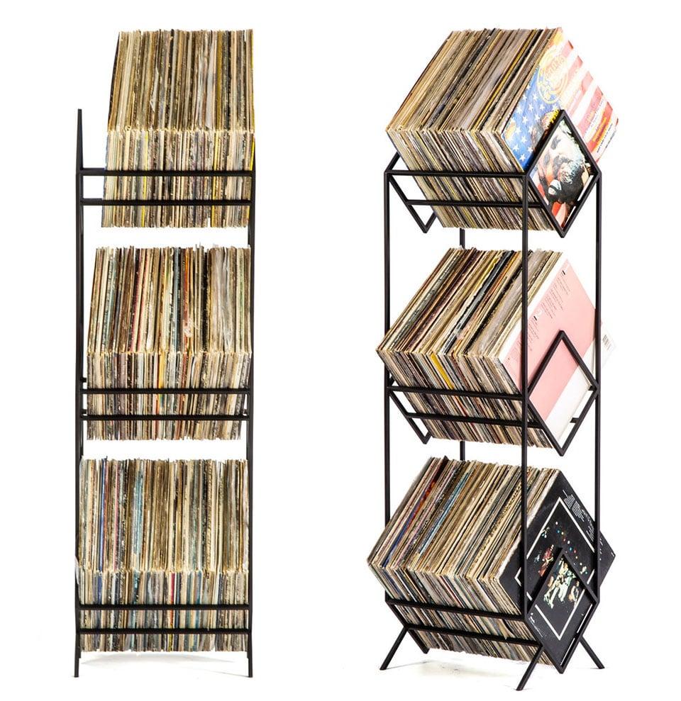 Triple Vinyl Record Tower