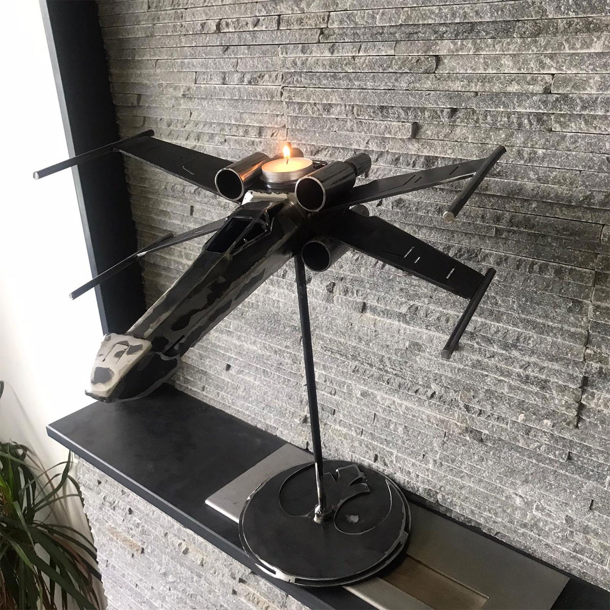 X-Wing + TIE Fighter Candlesticks