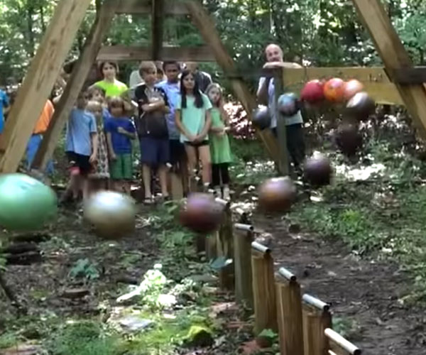 Bowling Ball Pendulum Wave