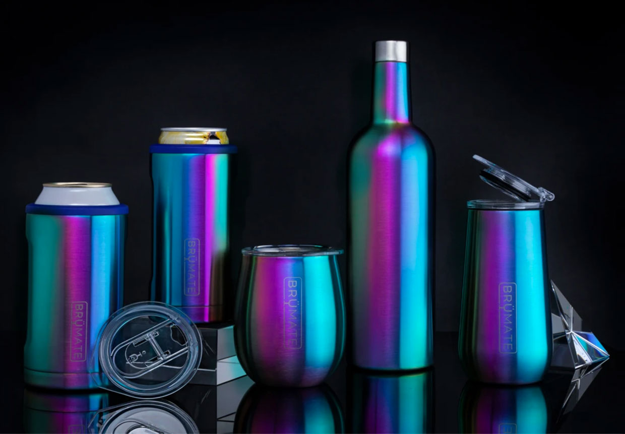BrüMate Rainbow Titanium Collection