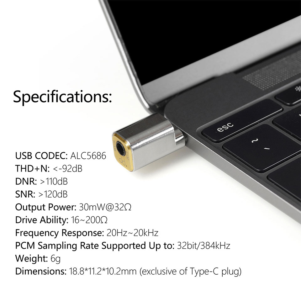 ddHiFi USB-C Headphone Adapter