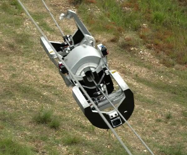 Power Line Fiber Optic Robot
