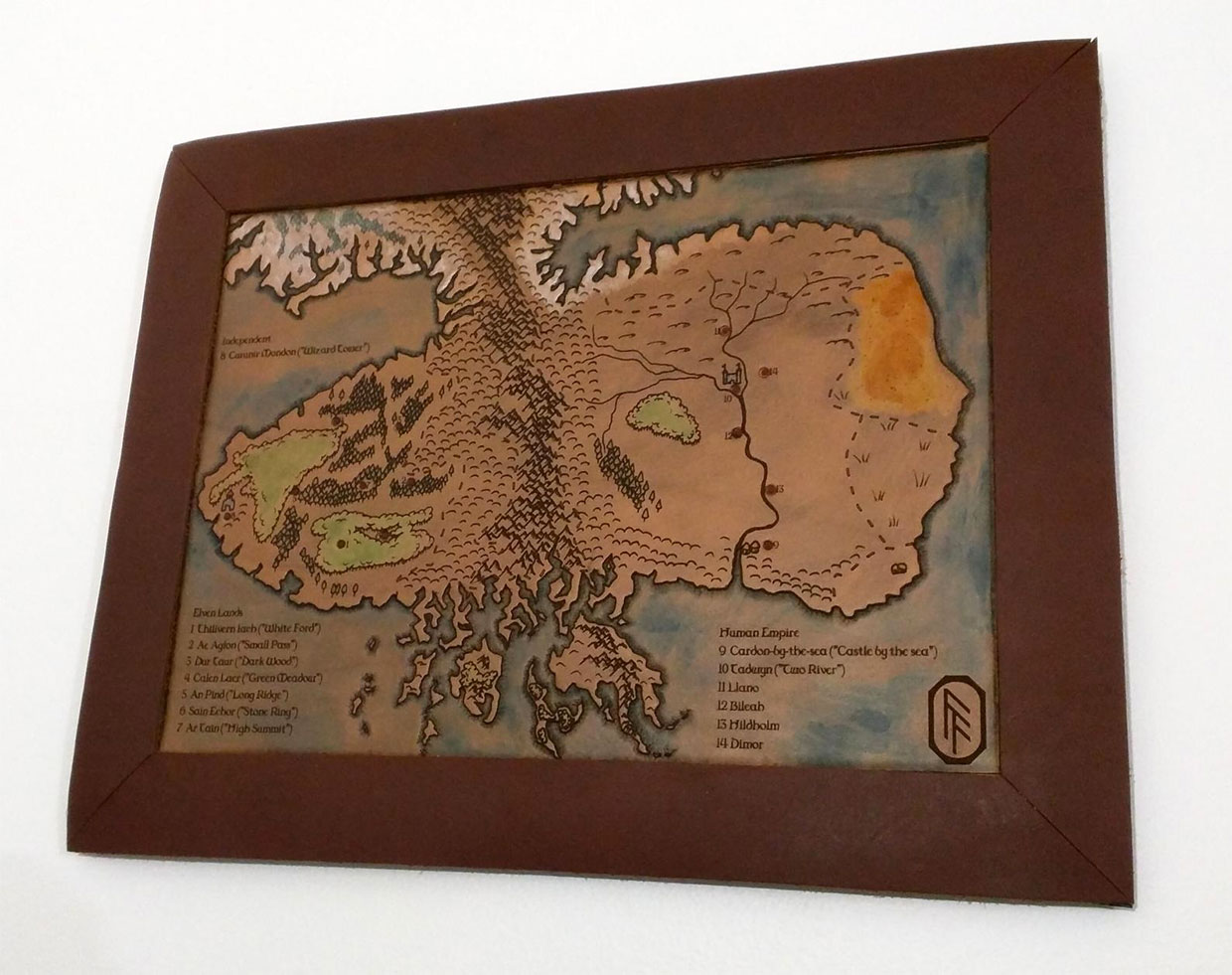 Carved Leather Maps