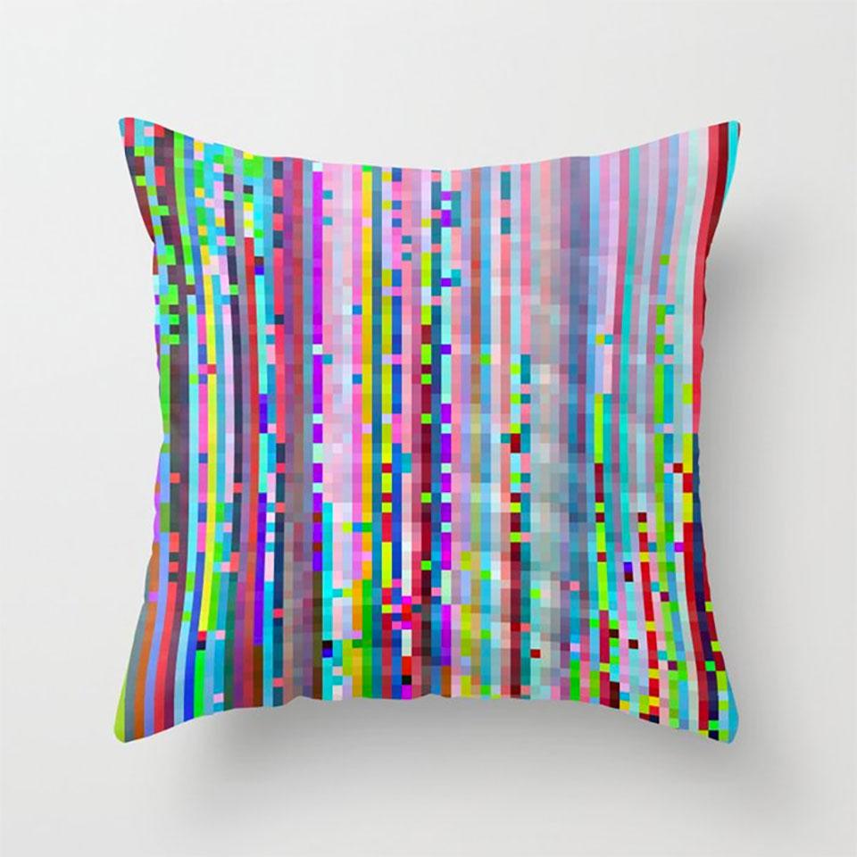 Glitch Art Throw Pillows