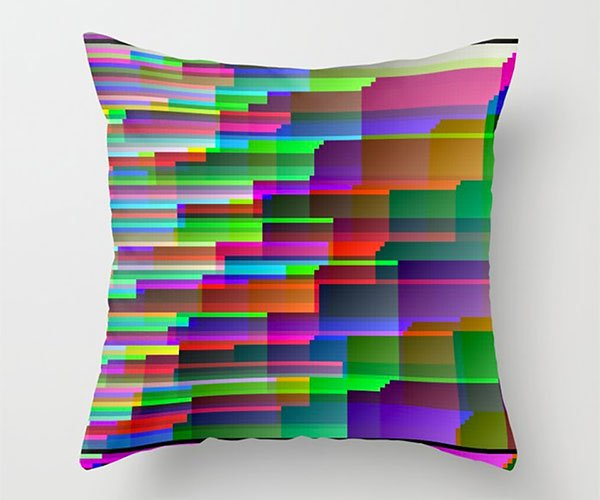 Glitch Art Throw Pillows