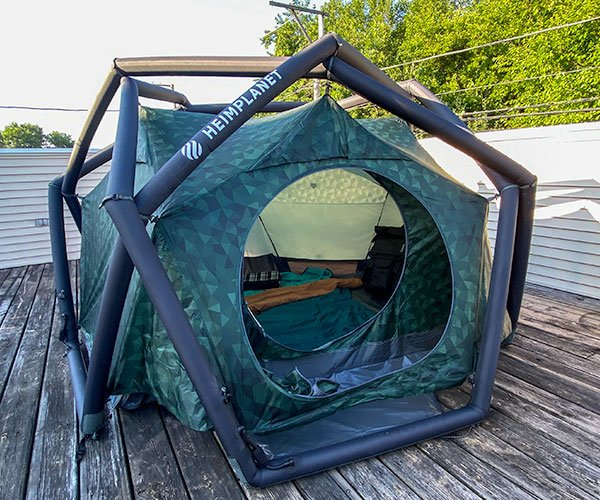 Urban Camping in The Cave Tent
