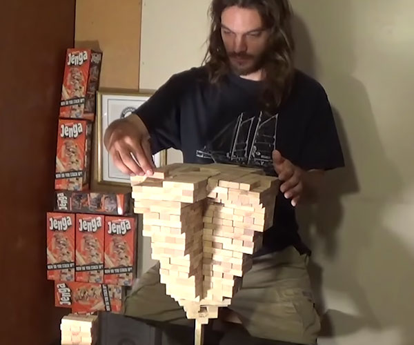 World Record Jenga Pyramid
