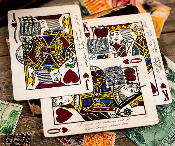 Postage Paid Playing Cards
