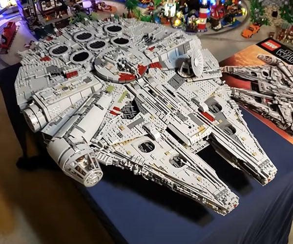 LEGO Millennium Falcon Builds Itself
