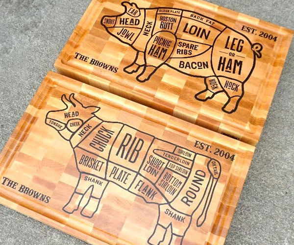 Making Cow & Pig Butcher Blocks