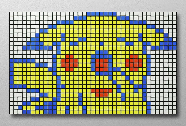 Pac Man Rubik's Cube Wall Art Mosaic