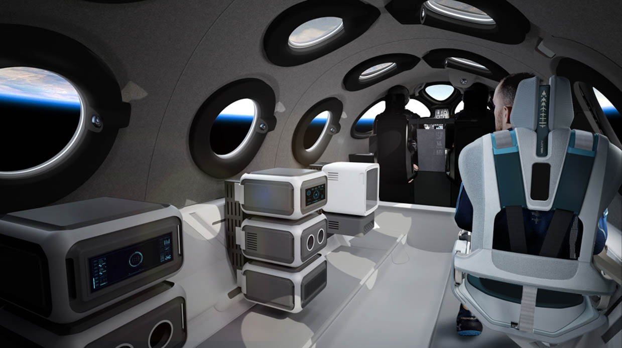 Inside Virgin Galactic SpaceShipTwo