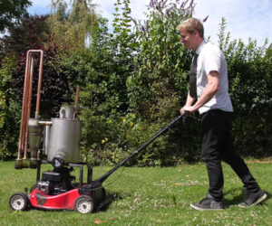 Wood-burning Lawnmower