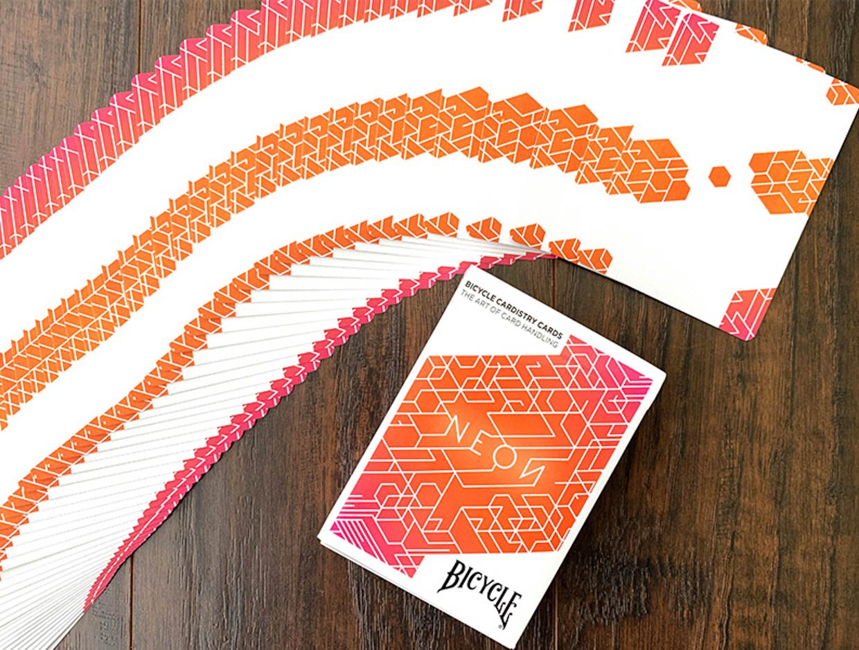 Neon Orange Cardistry Cards