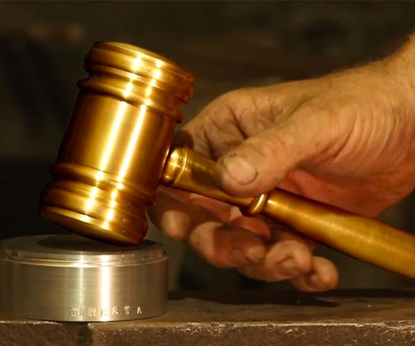 Making a Brass Judge's Gavel