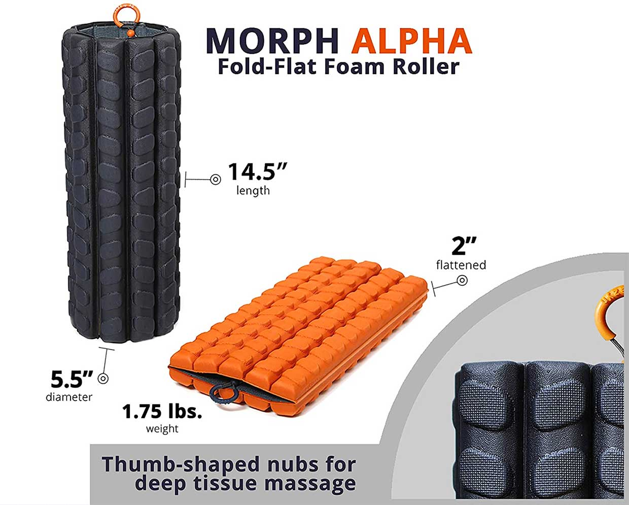 Brazyn Morph Packable Foam Roller