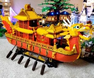 Brick-built Dragon Boat