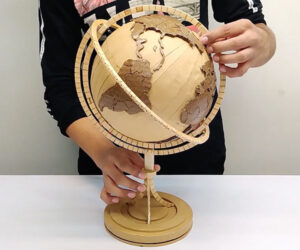 Cardboard and Popsicle Stick Globe