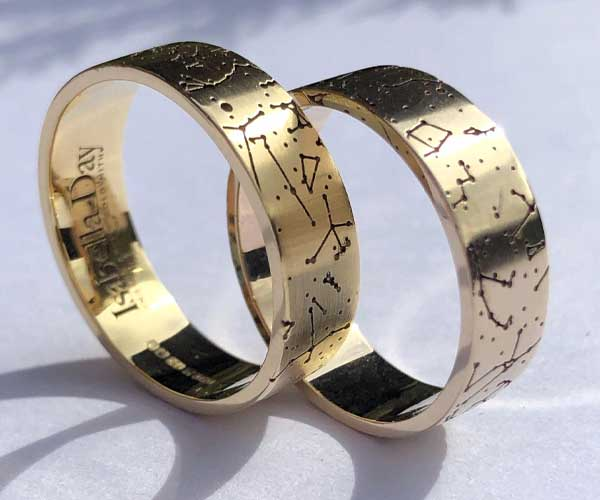 Written in the Stars Wedding Rings