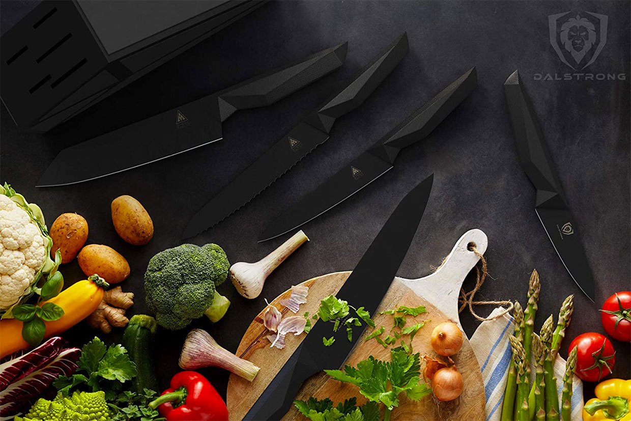 Shadow Black Kitchen Knives