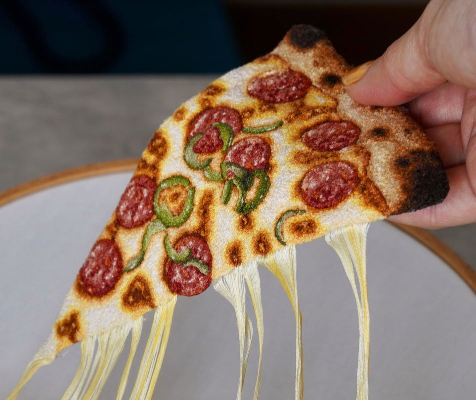 Realistic Food Embroidery