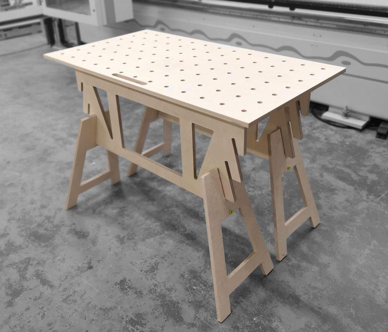 Flat-pack Wood Workbench